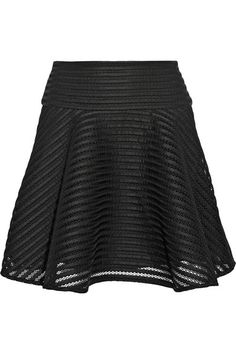 { embroidered honeycomb mesh skirt }