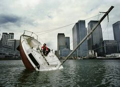 Love Love is a sculpture created by French artist Julien Berthier that resembles a sinking ship.