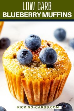 These Keto Blueberry Muffins are light, tender, and so delicious. Made with almond flour, they are also filling - perfect with a cup of hot coffee for breakfast. Say goodbye to the empty calories and carb crash that comes with traditional muffins, and hello to this low carb muffin. Sugar Free Breakfast, Gluten Free Recipes For Breakfast, Gluten Free Breakfasts, Quick And Easy Breakfast, Vegetarian Recipes, Healthy Recipes, Keto Blueberry Muffins, Blue Berry Muffins, Oatmeal Recipes