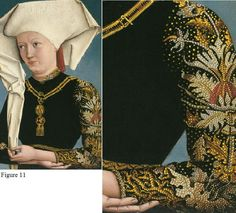 Portrait of Lady Wearing the Order of the Swan. c. 1490 - It seems that the fashion of Impresa has spread from Florence to Germany...Interesting