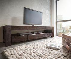 lowboard colombe 200x50 cm akazie tabak 4 schubkasten fernseher kommode tv lowboard schwarz mobel