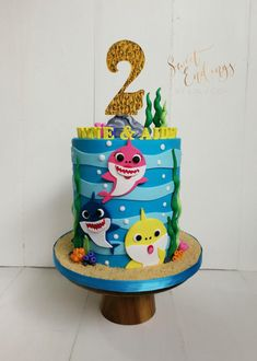 Baby Shark 2D - cake by Lulu Goh