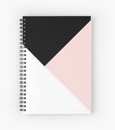 'Blush meets Black & White Geometric Spiral Notebook by anitabellajantz Blush meets Black & White Geometric Blush Pink, Black, White Minimal Scandinavian Geo Millions of unique designs by independent artists. Find your thing. Notebook Cover Design, Notebook Diy, Notebook Covers, Journal Covers, Middle School Supplies, Diy School Supplies, Diy Back To School, Too Cool For School, Cute Notebooks For School