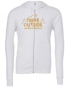 think outside no box required Zipper Hoodie