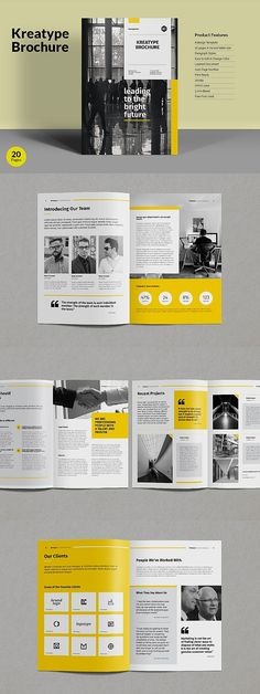 The corporate brochure, clean and creative template. This layout is suitable for any project purpose, very easy to use, edit and customize to your needs --- Booklet Design Layout, Graphic Design Brochure, Corporate Brochure Design, Leaflet Design, Magazine Layout Design, Brochure Design Inspiration, Brochure Layout, Print Layout, Brochure Template