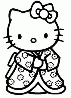 Coloriage Fleur Hello Kitty.53 Meilleures Images Du Tableau Dessin Hello Kitty En 2019 Hello