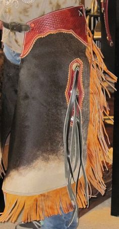 Hairon Cowhide Leather Chinks Shorter Chaps by TRUEBLUECOWGIRLZ, $555.00