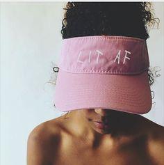 Lit Hat Cap It's Lit Its Lit AF Visor Tumblr Trendy by YELLMART