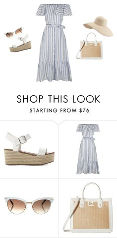 """""""vacation"""" by beccagh7 on Polyvore featuring Steve Madden, Lisa Marie Fernandez, Gucci, Emma Fox and Eric Javits"""