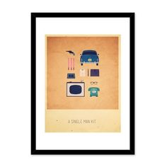 """20×16 in Alizée Lafon A Single Man Kit   20x16 in Alizée Lafon A Single Man Kit Alizée Lafon brings you Hipster Kits inspired by some of the most loved movies and TV series of our generation. From the comedy """"Little Miss Sunshine"""" to the fantasy series """"Game of Thrones"""", Alizée refreshes her fan base through the intricate details and bold colors found in her works. Her creative process begins in Illustrator, where she draws out each of the objects with maximum details so they look as.."""