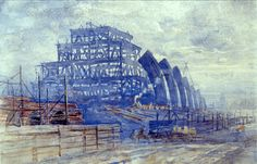 The Construction of the Train Shed, St Pancras Station