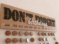 Items similar to Carved wooden perpetual birthday calendar on Etsy Birthday Calendar Board, Perpetual Birthday Calendar, Birthday Wall, Birthday Board, Birthday Ideas, Diy Crafts To Sell, Home Crafts, Calendrier Diy, Decoration Entree