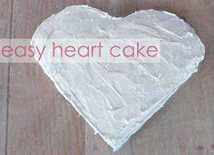 Heart Cake Tutorial - #valentinesday