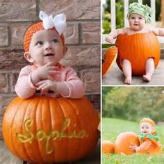 Baby in Pumpkin Photo Ideas ---- not pumpkin party but bloody lovely! Fall Baby Pictures, Holiday Pictures, Newborn Pictures, Fall Pics, Fall Photos, Baby Pumpkin Pictures, Pumpkin Pics, Pumpkin Pumpkin, Baby First Halloween