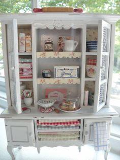 Miniature Charming Kitchen Hutch
