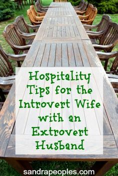 Outrageous Hospitality for the Introvert - sandrapeoples.com. I love these simple tips and reminders.