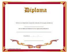 Resultado de imagen de diplomas para imprimir