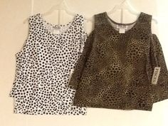 Girls Shorts Set Pisces Animal Print Black White or Brown Size M or L New!  #Pisces #Everyday
