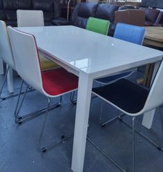 Alfrank-Colwood-White-Gloss-Extending-Dining-Table-and-6-Chairs-BNIB