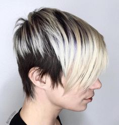 Two-Tone Black And Blonde Pixie