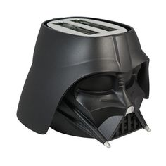 Star Wars Darth Vader Cool Wall Toaster 2-Slice Black ($60) ❤ liked on Polyvore featuring home, kitchen & dining, small appliances, bread toaster, two slice toaster, wide slot toasters, black toaster and darth vader toaster