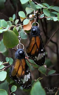 Handmade earrings with resin and cruelty free real butterfly wings. Jewelry Shop, Jewelry Making, Earrings Handmade, Handmade Jewelry, Polymer Clay Art, Butterfly Wings, The Conjuring, Crystal Jewelry, Cruelty Free