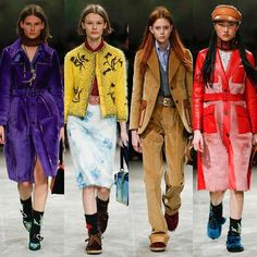 Colorful Autumn: the best looks from @Prada Fall/Winter 2017/18./ Яркая женская осень на мужском показе Prada в Милане.  via VOGUE RUSSIA MAGAZINE OFFICIAL INSTAGRAM - Fashion Campaigns  Haute Couture  Advertising  Editorial Photography  Magazine Cover Designs  Supermodels  Runway Models