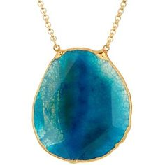 Janna Conner Damia Turquoise Agate Pendant Necklace