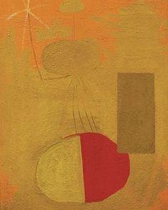 Robert Motherwell, Orange Personage Circa, 1947. #Art #Painting #RobertMotherwell #Artist