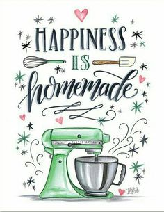 Lettering Kitchen Wall Decor Kitchen Sign Bakery Sign Bakery Art For the Baker Happiness is Homemade Kitchenaid Doodle Art Art Baker Bakery decor doodle art Happiness Homemade kitchen Kitchenaid Lettering sign Wall Kitchenaid, Happiness Is Homemade, Homemade Wall Decorations, Bakery Sign, Bakery Decor, Lily And Val, Kitchen Signs, Kitchen Decor, Kitchen Quotes