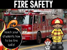 We all know how important it is to teach children how to be safe in case of a fire. This fire safety unit can be used to supplement your teaching during fire safety week. Sight Words List, First Grade Sight Words, Reading Comprehension Activities, Writing Activities, Fire Safety Week, Planning School, Fire Prevention Week, Safety Meeting, First Grade Worksheets