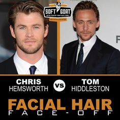 #malegrooming #shaving #sexyscruff #stubble #mensfashion #celebrities #Hollywoodhunks #ChrisHemsworth #TomHiddleston