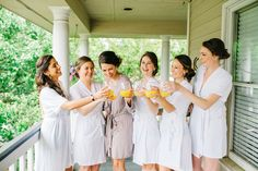 Cheers! Hanging out with the girls before wedding