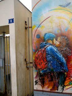 Street Art by C215 in Vitry-sur-Seine, France 9y4279