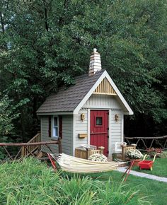 cabane-de-jardin- pour-enfant-cabane-avec-hammac