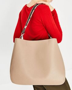 ZARA - WOMAN - TOTE WITH PRINTED STRAP