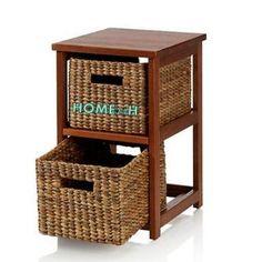 Home24h co,.ltd: Drawer Cabinet 2 baskets Water Hyacinth