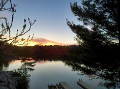 Sunset over MacLean Lake Severn Ontario Canada
