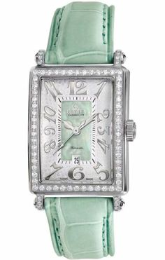 Gevril Women's 6206NL Glamour green calfskin band watch.   Your #1 Source for Watches and Accessories