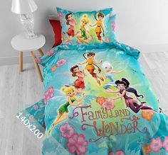 Disney Dekbedovertrek - Fairies - Land - 140x200 cm