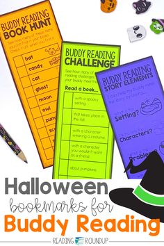 Is your Daily 5 Buddy Reading Center as effective as you'd like for it to be? These Halloween themed digital and printable reading buddies bookmarks are guaranteed to lead to more student engagement. Elementary students can practice making predictions with these bookmarks and graphic organizers. Story Elements reading response sheets are also available for additional accountability during literacy centers. A must-have for your reading workshop!