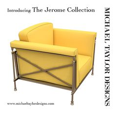 The new Jerome Collection coming soon. Contact our Michael Taylor Designs showroom for more information.