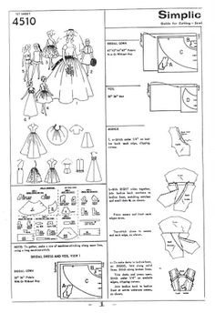 View album on Yandex. Diy Doll Clothes Patterns, Sewing Barbie Clothes, Barbie Sewing Patterns, Sewing Dolls, Girl Doll Clothes, Doll Patterns, Girl Dolls, Sewing Ideas, Barbie And Ken