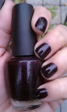 OPI Eiffel For This Color, I love deep purple nails!