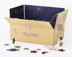 Starry delivery box design by Rengo, Japan Japanese Packaging, Tea Packaging, Beauty Packaging, Jewelry Packaging, Brand Packaging, Packaging Design, Kids Packaging, Luxury Packaging, Box Branding
