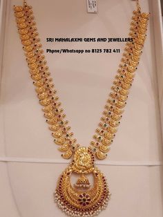 Pin By Jyostna On Imitation Jwellari In 2019 Tejidos – Jewelry Real Gold Jewelry, Gold Jewelry Simple, Gold Wedding Jewelry, Gold Jewellery Design, Bridal Jewelry, Mango Mala Jewellery, Temple Jewellery, Gold Necklace, Mango Necklace