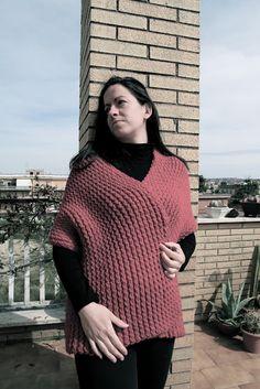 Le cose di Mys@: Telaio lungo: Red shawl