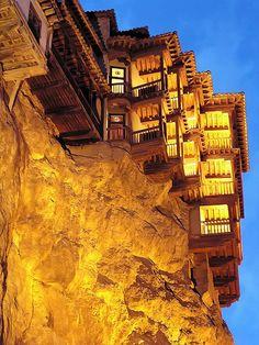 Casas colgantes de Cuenca cerca de Madrid España