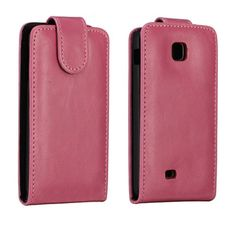 Wall Street (Rosa) LG Optimus F5 Lær Flipp Etui