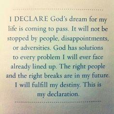 I declare it!